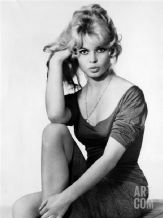 Brigitte Bardot  Sitting, Decorative Arts, Prints & Posters, Wall Art Print, Poster Any Size - Black and White Poster (1)